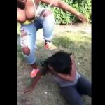 Bitches Tits Pop Out While Beating Up Friend