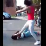 Black Bitch Gets Brain Damaged By Head Stomp