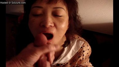 Asian Milf Wanted Cum For Dinner, She Swallows All Her Meal